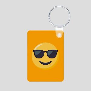 Sunglasses Emoji Aluminum Photo Keychain