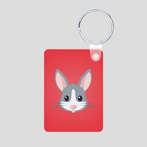 Rabbit Aluminum Photo Keychain