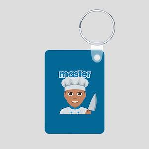 Emoji Master Chef Aluminum Photo Keychain
