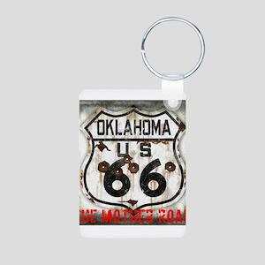 Oklahoma Route 66 Classic Aluminum Photo Keychain