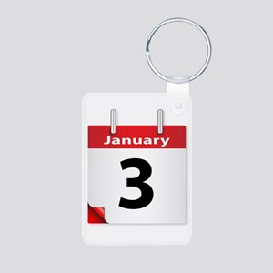 Date January 3rd Keychains