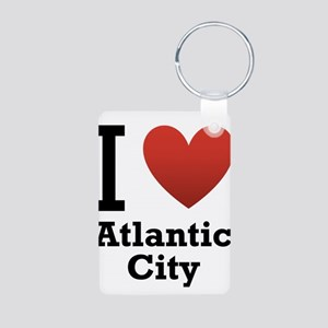 I Love Atlantic City Aluminum Photo Keychain