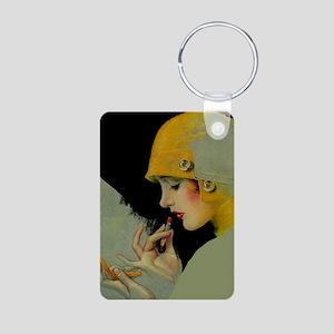 Art Deco Roaring 20s Flapper With Lipstick Keychai