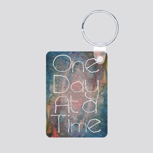 One Day at a Time Abstract Art Keychains