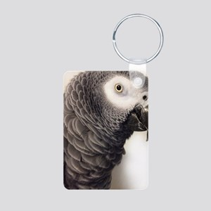 African Grey Parrot Keychains
