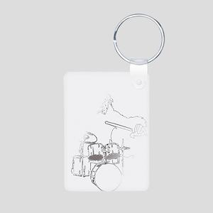 White Gorilla Aluminum Photo Keychain
