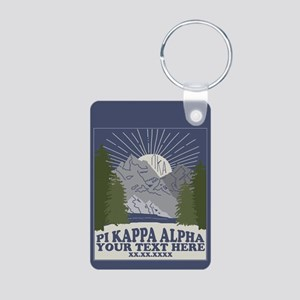 Pi Kappa Alpha Mountain Pe Aluminum Photo Keychain