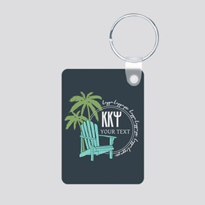 Kappa Kappa Psi Palm Tree Aluminum Photo Keychain
