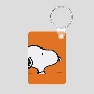Fresh Orange Aluminum Photo Keychain