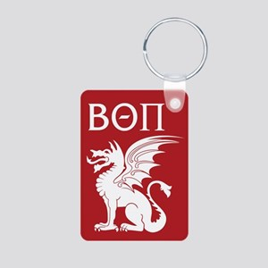 Beta Theta Pi Dragon Lette Aluminum Photo Keychain