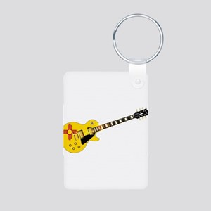 New Mexico State Flag Guitar Keychains