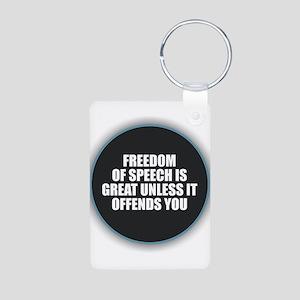 Freedom of Speech Keychains