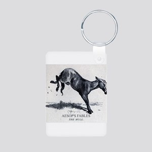 Harrison Weir - The Mule - Aesop - 1867 Keychains