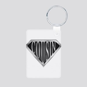 spr_cousin_chrm Aluminum Photo Keychain