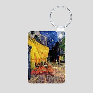 Van Gogh, Cafe Terrace at  Aluminum Photo Keychain