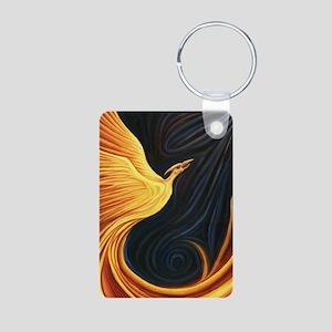 Phoenix Rising Aluminum Photo Keychain