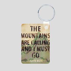 John Muir Mountains Aluminum Photo Keychain