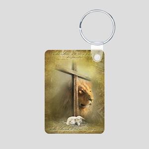 Lion of Judah, Lamb of God Aluminum Photo Keychain