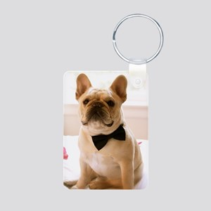 Dressed to the Nines Aluminum Photo Keychain