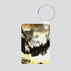 vintage mountains are calling Keychains