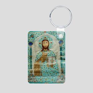 ChristTeacherLaptop Aluminum Photo Keychain
