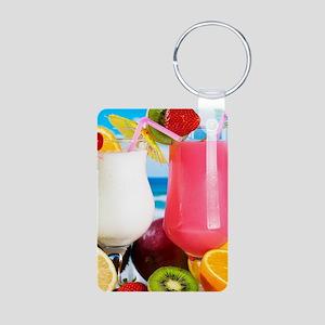 Exotic Summer Cocktails Keychains