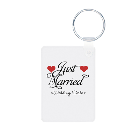Just Marrried (Add Wedding Date) Aluminum Photo Ke