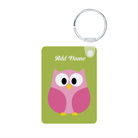 Green Pink Owl Keychains