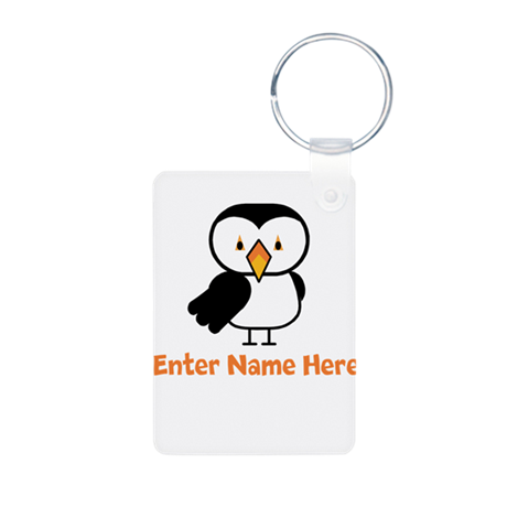 Personalized Puffin Aluminum Photo Keychain