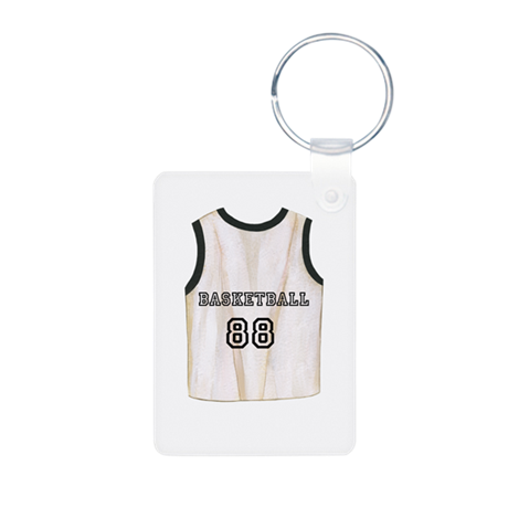 Basketball Jersey Aluminum Photo Keychain