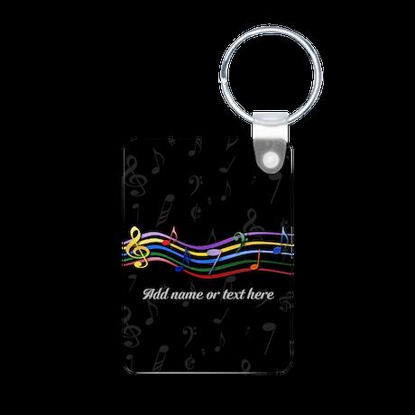 Personalized Rainbow Musical Aluminum Photo Keycha