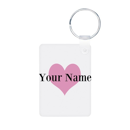 Pink heart and personalized name