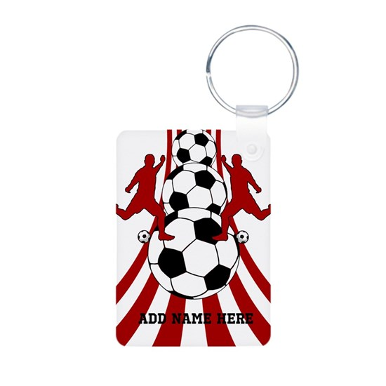 Personalized Red White Soccer