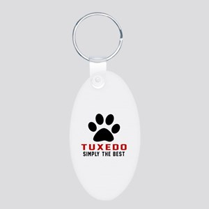 Tuxedo Simply The Best Cat Aluminum Oval Keychain