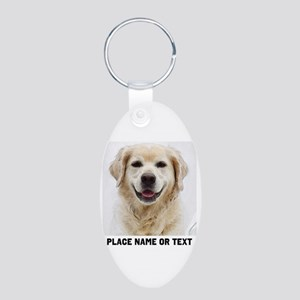 Dog Photo Customized Aluminum Oval Keychain