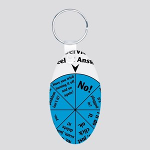 IT Wheel of Answers Aluminum Oval Keychain