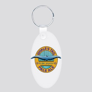 Whale's Tail Aluminum Oval Keychain