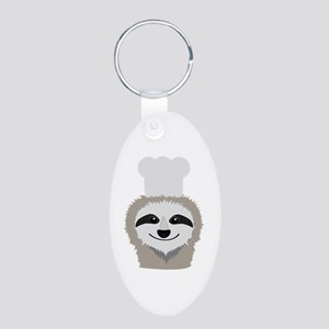 sloth chef with cook hat Keychains
