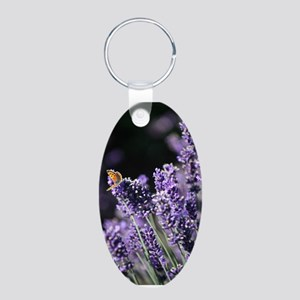 Lavender Orange Butterfly Keychains