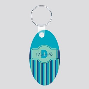 Stripes2015D2 Aluminum Oval Keychain