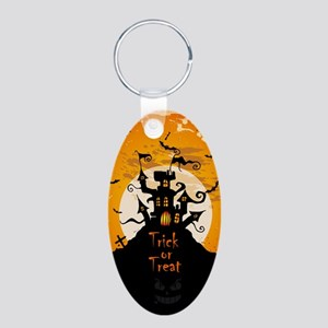Castle On Halloween Night Keychains