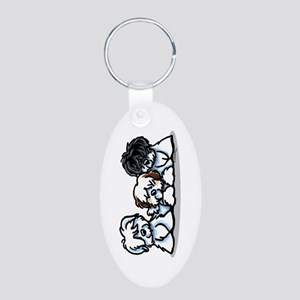 Three Cotons Aluminum Oval Keychain