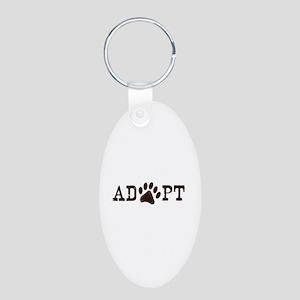 Adopt an Animal Aluminum Oval Keychain