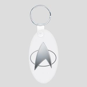 Star Trek TNG Aluminum Oval Keychain