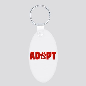 Cute Pets Paw Cat Dog Adopt Red Keychains