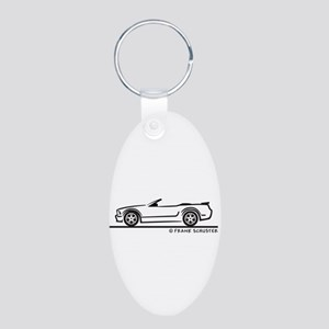 New Ford GT Mustang Convertib Aluminum Oval Keycha