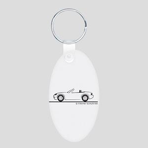 Mazda Miata MX-5 NB Aluminum Oval Keychain