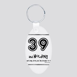 39AHC Thats My Story-Black Keychains