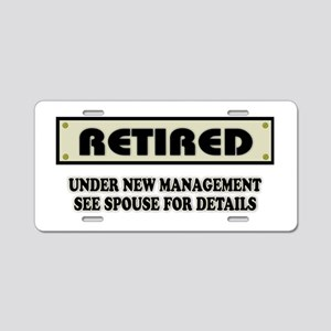 Funny Retirement Gift, Reti Aluminum License Plate