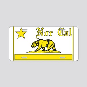 nor cal bear yellow Aluminum License Plate